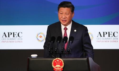 Chủ tịch Trung Quốc Tập Cận Bình tại APEC ở Papua New Guinea ngày 17/11. Ảnh: AFP.