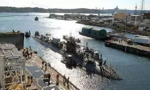 Tàu ngầm 361 được sửa chữa lại ngày 29/4/2003 và tiếp tục ra biển vào tháng 8/2004. Ảnh: Weibo.