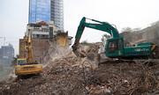 Phá dỡ chung cư cũ 93 Láng Hạ sau nhiều năm đình trệ