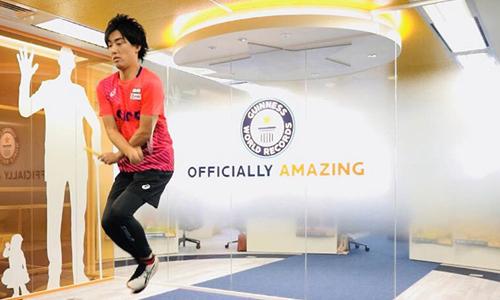 Ikuyama tập luyện cho ngày thi đấu kỷ lục Guinness từ cuối năm 2017. Ảnh: GWR.