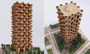 Dự án tòa nhà 18 tầng phủ kín cây xanh ở Canada