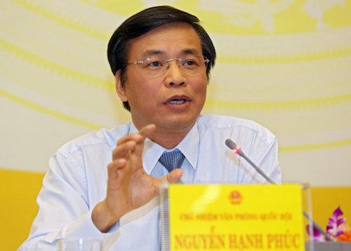 Tổng thư ký Quốc hội Nguyễn Hạnh Phúc. Ảnh: Võ Hải