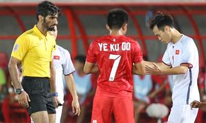 Các tình huống tranh cãi của trọng tài trận Myanmar - Việt Nam
