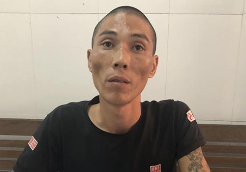 Lê Ngọc Hà lúc lấy lời khai. Ảnh:Nguyễn Hải.