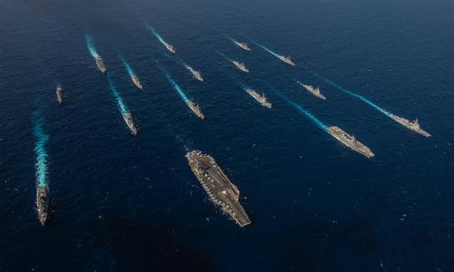 Lực lượng Mỹ và Nhật diễn tập gần Trung Quốc hồi đầu tháng 11. Ảnh: US Navy.