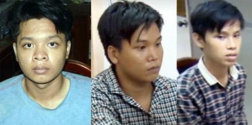 Chủ mưu Bi Mập (bìa trái) cùng hai đồng phạm. Ảnh: Công an cung cấp