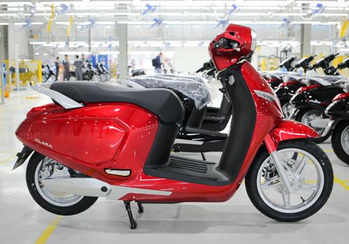Mẫu xe máy điện Klara tại nhà máy ở Hải Phòng. Ảnh: Ngọc Tuấn.