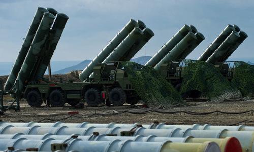 Xe phóng đạn thuộc tổ hợp S-400 Nga. Ảnh: TASS.