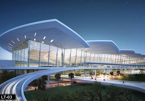 Thiết kế hoa sen tại sân bay Long Thành