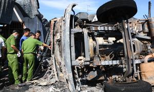 Nhân chứng vụ xe bồn chở xăng gây cháy: 'Quá kinh hoàng, ám ảnh cả đời'