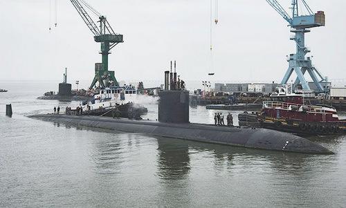 USS Boise chờ được bảo dưỡng hồi giữa năm nay. Ảnh: US Navy.