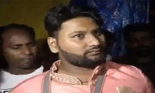 Chú rể Badal, người bị bắn trong đám cưới hôm 19/11 ở New Delhi. Ảnh: ANI