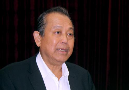 Phó Thủ tướng Trương Hoà Bình kết luận buổi làm việc. Ảnh: Ngọc Trường.