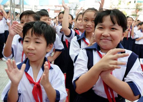 Học sinh lớp 6 trường THCS Cửu Long (quận Bình Thạnh, TP HCM). Ảnh: Mạnh Tùng.