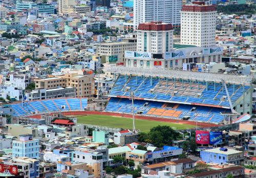 Sân vận động Chi Lăng trở thành tài sản thi hành án sau khi ông Phạm Công Danh bị bắt. Ảnh: Nguyễn Đông.