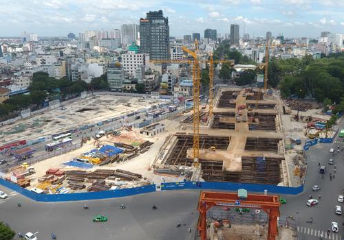 Nhiều nhà thầu đang bị nợ tiền tại dự án metro Bến Thành - Suối Tiên. Ảnh: Anh Duy.