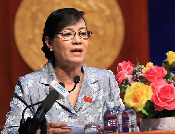 Bà Quyết Tâm nhìn nhận trách nhiệm của lãnh đạo TP HCM đương nhiệm. Ảnh: Hữu Khoa.
