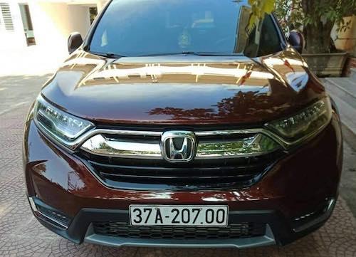 Chiếc Honda CRV của trung tá Hà lúc đang gắn biển giả. Ảnh: Vũ Đồng.