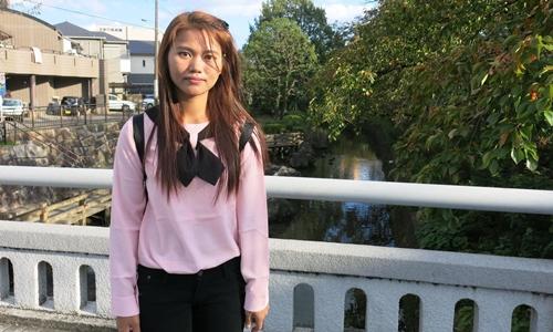 War Nu, 27 tuổi, người Myanmar làm việc ở Nhật. Ảnh: Washington Post.