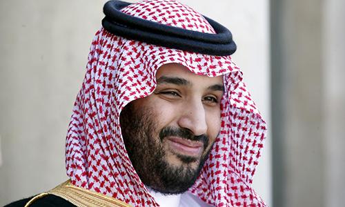 Thái tử Arab Saudi Mohammed bin Salman tại Điện Elysee, Paris, Pháp, ngày 24/6. Ảnh: Reuters.