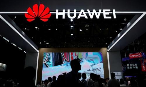 Gian hàng của Huawei tại một triển lãm tháng 6 năm nay ở Thượng Hải, Trung Quốc. Ảnh: Reuters.
