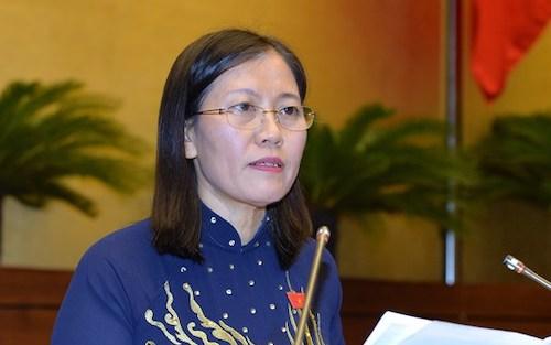 Chủ nhiệm Uỷ ban Tư pháp Lê Thị Nga. Ảnh: Hoàng Phong