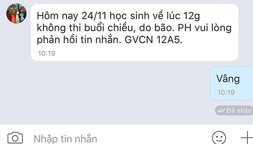 Trường PTTH tại TP HCM huỷ buổi thi chiều nay để đảm bảo an toàn cho học sinh.