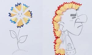 Vụn bút chì trở nên hữu dụng khi vẽ