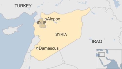 Vị trí của Aleppo. Đồ họa: BBC.
