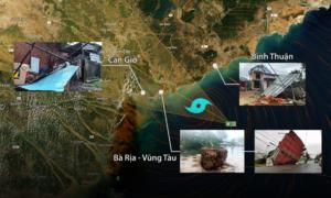 Bão Usagi đổ bộ Vũng Tàu, nhiều tỉnh thành bị ảnh hưởng