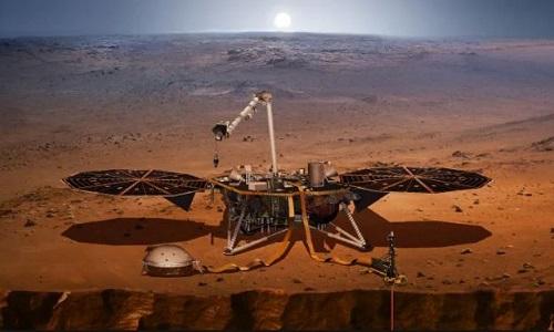 Tàu Insight sẽ nghiên cứu cấu tạo sao Hỏa. Ảnh: NASA.