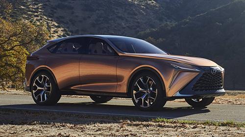 Hình ảnh đồ họa cho siêu SUV của Lexus.
