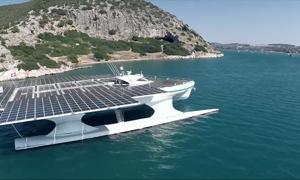 Con tàu chạy vòng quanh thế giới bằng năng lượng mặt trời