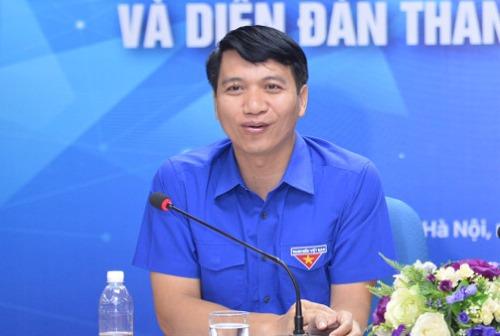 Bí thư BCH Trung ương Đoàn Nguyễn Ngọc Lương phát biểu tại họp báo diễn ra sáng 26/11. Ảnh: Dương Triều