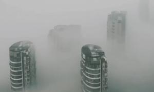 Thành phố ở Trung Quốc chìm trong khói mù ô nhiễm