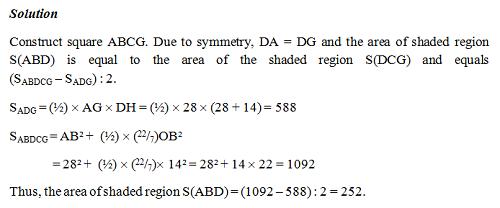 Đáp án bài tính diện tích trong đề thi APMOPS 2014 - 2