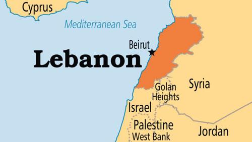 Lebanon giáp biên giới với cả Syria và Israel. Đồ họa: AlJazeera.