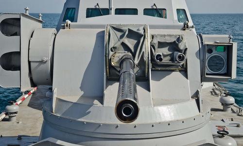 Bệ vũ khí Katran-M trên một tàu pháo lớp Gyurza-M hồi năm 2017. Ảnh: Naval Analyses.