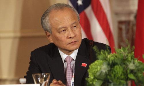 Đại sứ Trung Quốc tại Mỹ Thôi Thiên Khải. Ảnh: AFP.