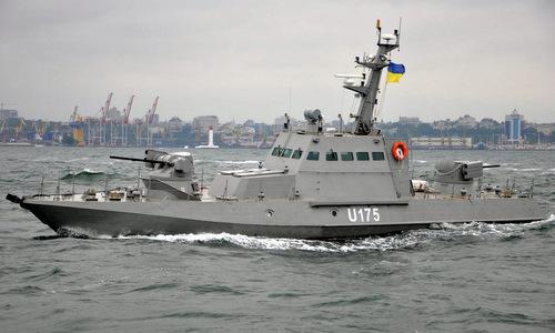 Tàu pháo Berdyansk gần cảng Odessa hồi năm 2016. Ảnh: Hải quân Ukraine.