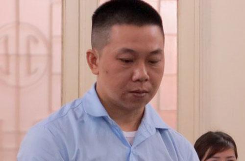 Bị cáo Đoàn tại phiên tòa.