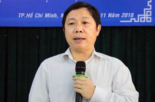 Giám đốc Sở TTTT Dương Anh Đức tại buổi họp báo chiều 28/11. Ảnh: Dương Trang