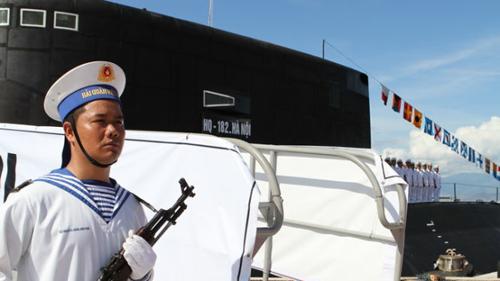 Chiến sĩ hải quân tàu ngầm Hà Nội. Ảnh: Võ Văn Thành