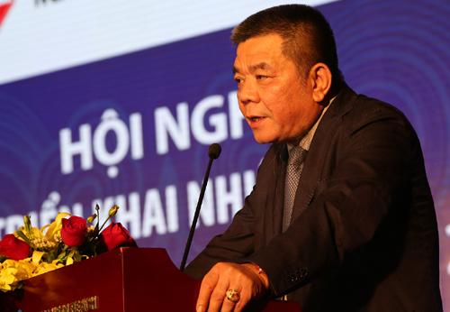 Ông Trần Bắc Hà khi còn làm lãnh đạo ngân hàng BIDV. Ảnh: BIDV