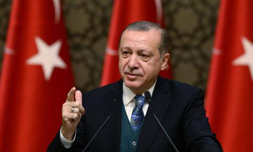 Tổng thống Thổ Nhĩ Kỳ Recep Erdogan. Ảnh: AP.