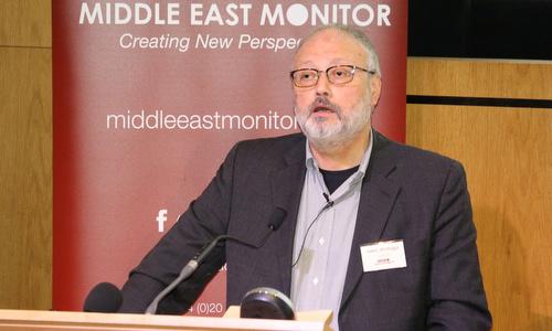 Nhà báo Jamal Khashoggi trong một sự kiện tại Anh hồi tháng 9. Ảnh: Reuters.