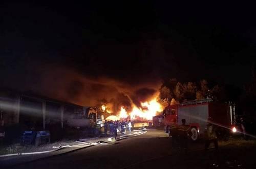 Cháy lớn tại khu công nghiệp Đà Nẵng