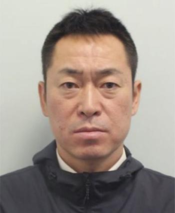 Cơ phó Katsutoshi Jitsukawa sau khi bị bắt tại London. Ảnh: London Metro Police
