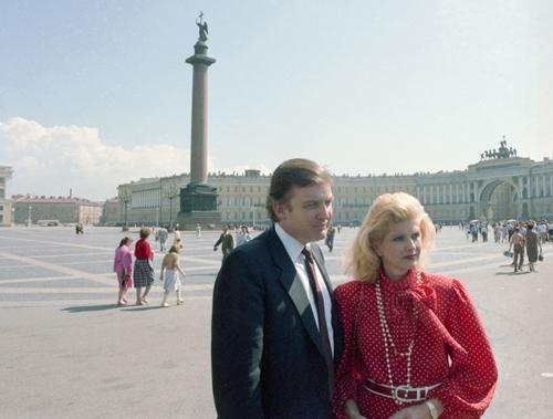 Donald Trump và vợ Ivana tại Nga năm 1987. Ảnh: Tass.