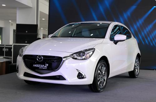 Mazda2 phiên bản nâng cấp ra mắt tại Hà Nội sáng 30/11. Ảnh: Đức Huy.